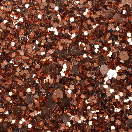 Copper Glitter Glam Wallpaper