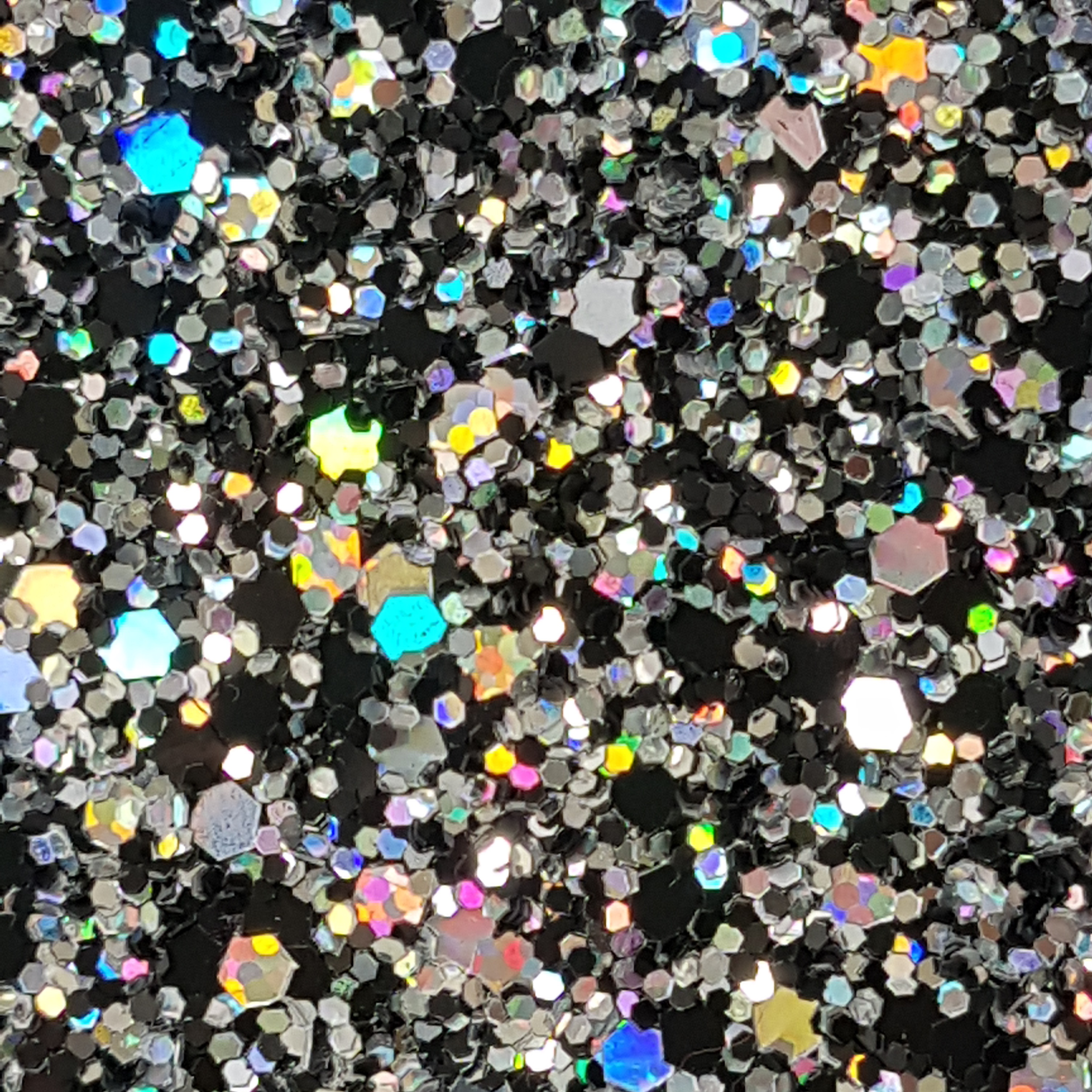 Black Silver Hologram Glam Glitter Wall Covering