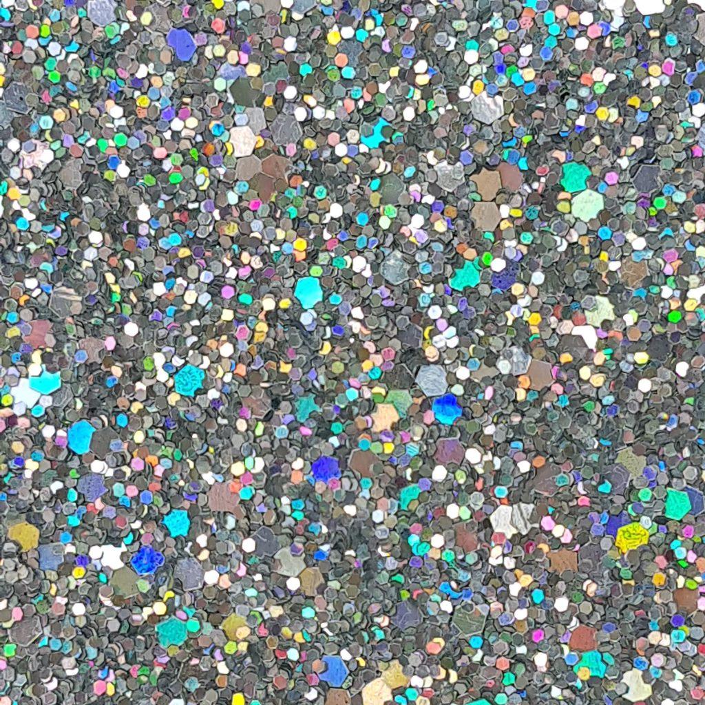 Silver Hologram Glam Glitter Wall Covering Glitter Bug